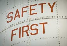 Veiligheid eerst stock afbeeldingen