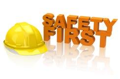 Veiligheid eerst! stock illustratie