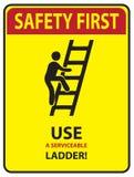 Veiligheid eerst - Ladder royalty-vrije illustratie