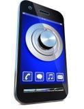 Veiligheid en smartphone Royalty-vrije Stock Afbeeldingen