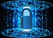 Veiligheid, privacy, beschermings en veiligheids het concept van de gegevenstoegang Royalty-vrije Stock Fotografie