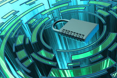 Veiligheid, privacy, beschermings en veiligheids het concept van de gegevenstoegang Royalty-vrije Stock Foto