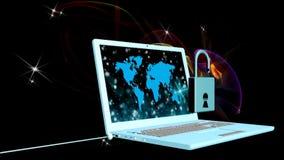 Veiligheid programmeringsverbinding animatie stock footage