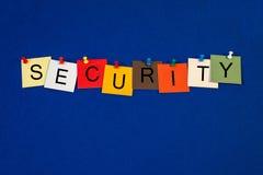 Veiligheid - tekenreeks voor zaken. stock fotografie