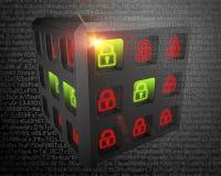 Veiligheid van de achtergrond van informatiesystemen Royalty-vrije Stock Afbeeldingen