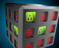 Veiligheid van de achtergrond van informatiesystemen Royalty-vrije Stock Afbeelding