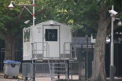 Veiligheid van de Ambassades in de stad van Den Haag waar alle diplomaten in Nederland werken stock afbeeldingen