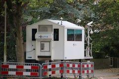 Veiligheid van de Ambassades in de stad van Den Haag waar alle diplomaten in Nederland werken stock afbeelding
