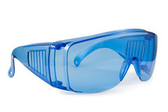 Veiligheids blauwe glazen Royalty-vrije Stock Foto's
