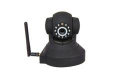 Veiligheids draadloze camera die op wit wordt geïsoleerd Stock Fotografie