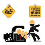 Veiligheids eerste abstracte affiche royalty-vrije illustratie