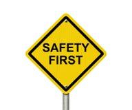 Veiligheids Eerste Waarschuwingsbord Stock Foto