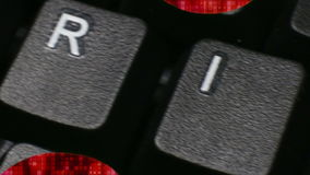 'VEILIGHEIDS' Macroecu Dolly de sleutels van de bewegingscomputer spellend 'veiligheid' stock illustratie