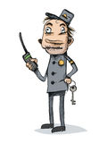 Veiligheidsagent karikatuur Stock Afbeeldingen