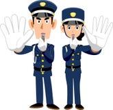 Veiligheidsagenten die de houding van afschrikking tonen vector illustratie