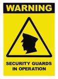 Veiligheidsagenten in het waarschuwingssein van de verrichtingstekst royalty-vrije stock afbeeldingen