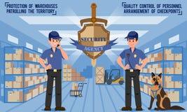 Veiligheidsagentschap Vector illustratie stock illustratie