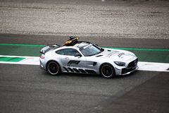 Veiligheidsauto in Monza 2018 royalty-vrije stock afbeelding