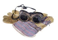 Veiligheidsbrillen met Handschoenen stock afbeeldingen