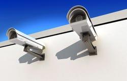 Veiligheidscamera Royalty-vrije Stock Afbeeldingen