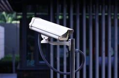 Veiligheidscamera openlucht, kabeltelevisie openlucht Stock Fotografie