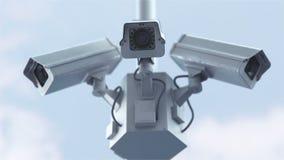 Veiligheidscamera's in 4K stock footage