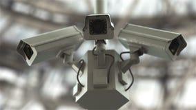 Veiligheidscamera's in 4K stock video