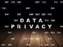 Veiligheidsconcept: Gegevensprivacy in grunge donkere ruimte Stock Foto