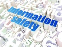 Veiligheidsconcept: Informatieveiligheid op alfabet Stock Afbeelding