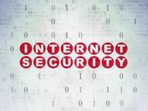 Veiligheidsconcept: Internet-Veiligheid op Digitaal Document Stock Foto
