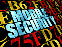 Veiligheidsconcept: Mobiele Veiligheid op Digitaal Stock Afbeelding
