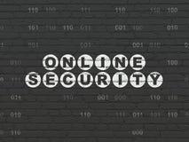 Veiligheidsconcept: Online Veiligheid op muurachtergrond Stock Afbeeldingen