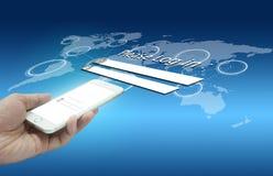 Veiligheidsconcept slimme telefoontechnologie royalty-vrije stock afbeelding