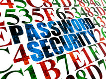 Veiligheidsconcept: Wachtwoordveiligheid op Digitaal Stock Afbeeldingen