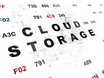 Veiligheidsconcept: Wolkenopslag op Digitaal Stock Afbeelding
