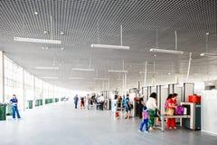 Veiligheidscontrolepost bij de ingang aan het Olympische Park van Sotchi Royalty-vrije Stock Foto's