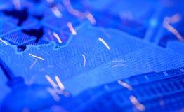 Veiligheidseigenschappen op bankbiljet in UVlichtbescherming Stock Fotografie