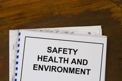 Veiligheidsgezondheid en milieu Stock Foto