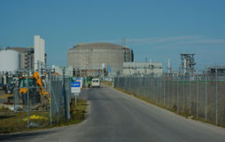 Veiligheidsingang aan Vloeibare aardgasfaciliteit Royalty-vrije Stock Foto's