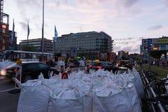 Veiligheidsmaatregelen en politiecontroles tijdens Kieler Woche 2017 Royalty-vrije Stock Afbeelding