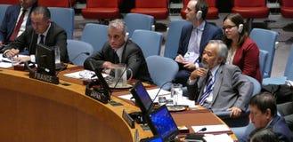 Veiligheidsraad 7760 de samenkomende Verenigde Naties royalty-vrije stock afbeelding