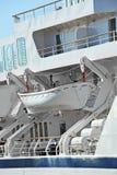 Veiligheidsreddingsboot stock afbeelding