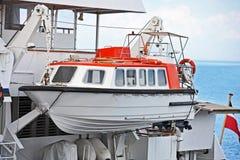 Veiligheidsreddingsboot stock foto