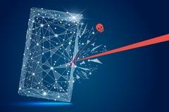 Veiligheidsschending - Infographical-Concept Abstract ontwerp van mobiele telefoonsmartphone Grafisch ontwerp op het thema van Stock Fotografie