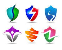 Veiligheidsschild Logo Template Stock Afbeeldingen