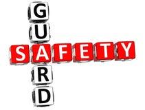 Veiligheidswacht Crossword vector illustratie