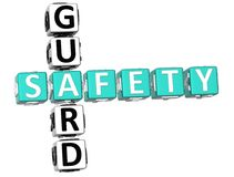 Veiligheidswacht Crossword Royalty-vrije Stock Fotografie
