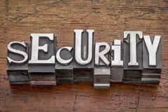 Veiligheidswoord in metaaltype Stock Foto