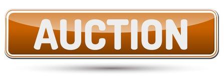 VEILING - Abstracte mooie knoop met tekst Stock Afbeelding