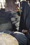 Veiling Bedouin woman Stock Images